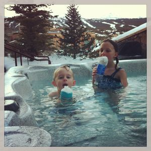 'Snowcones' in the hot tub