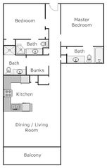Tidewater Beach Resort condo photo - Great floor plan - open, functional, accommodating!
