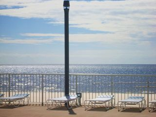 Biloxi condo photo - View from our pool which is seasonally heated. Barbecue provided beach level.