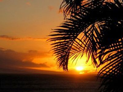 Sunset image shot from Maui Kamaole, Making Maui Memories Photo
