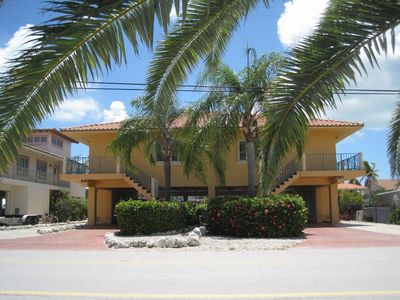 Key Colony Beach property rental - Front View of Mediterranean Style Duplex