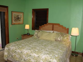 Cruz Bay condo photo - Enjoy the comfort of the king size bed in the large air conditioned bedroom.