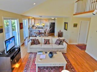Chilmark house photo - Sunny Living Area Has Vaulted Ceilings & Loft Balcony