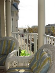 Belmont Towers Ocean City townhome photo - Second story balcony w/ view of boardwalk and ocean