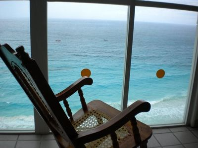 Your view of the ocean from the 1 bdrm penthouse condo! Wall of Windows!