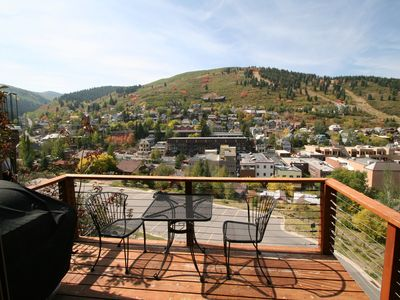 3rd Fl: Front Deck BBQ View of Old Town, Deer Valley & Park City Mountain Resort