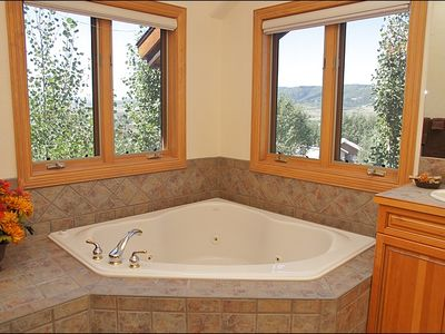 Jacuzzi Tub Also in the Master Bath