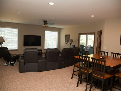 Theater Room - w/70in 3DTV, surround sound, theater seats & table for board game