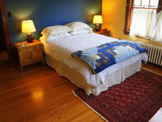 Phoenicia house photo - Big guest bedroom with queen bed and lots of light.