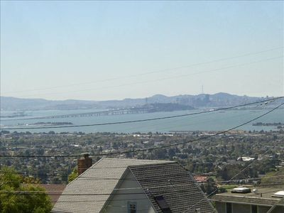 View of San Francisco/Oakland Bay Bridge from patio and studio.