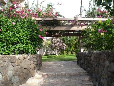 Lush landscaping at Kihei Akahi surrounds you with the fragrance of flowers