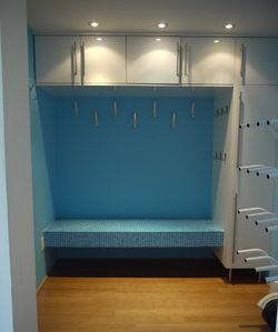 Mud Room with Boot & Glove Dryer - plenty of hooks to hang your gear!