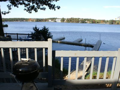 Wisconsin Dells townhome rental - Grilling Decks and Pier with boat slips