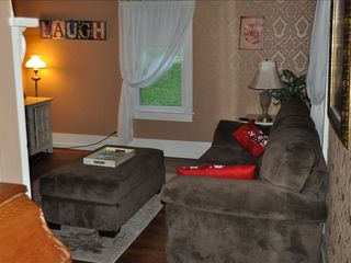 Roan Mountain house photo - Family Room complete with Cable TV, DVD player and board games