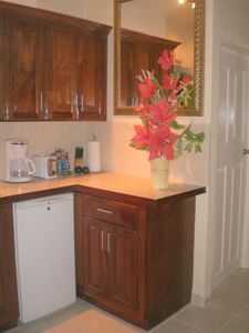 Cottage Kitchen..with coffee maker, microwave, toaster etc...
