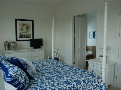 Master bedroom | luxury linens | huge  5 piece ensuite |