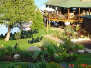 Lake Placid condo photo - Free Beach Access-Boat House-view from Condo,Restaurant, Marina