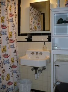 Chevy Chase house rental - Hall bath with tub and shower