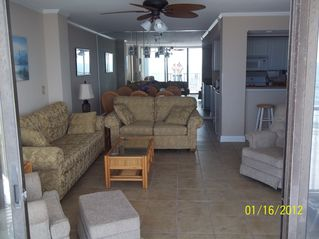 Gulf Shores condo photo - View of living room from the balcony.