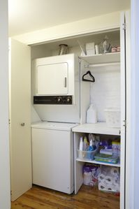 Laundry Washer/Dryer Utility closet In Apartment
