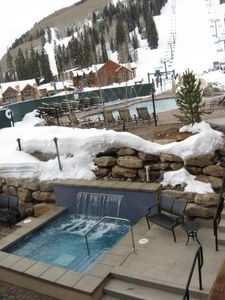 Outdoor heated pool and spa!