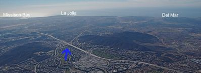 Aerial View.... Home to Del Mar (10 min's). super easy access to freeways