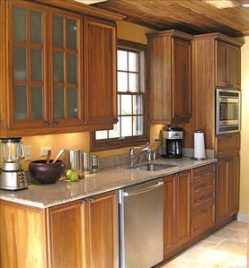 Gourmet Kitchen with Upscale Appliances.