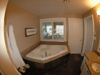 Luxurious bathroom with heated floor