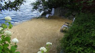Lake Winnisquam house photo - Landscaped beach