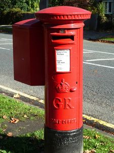 Our local post box.
