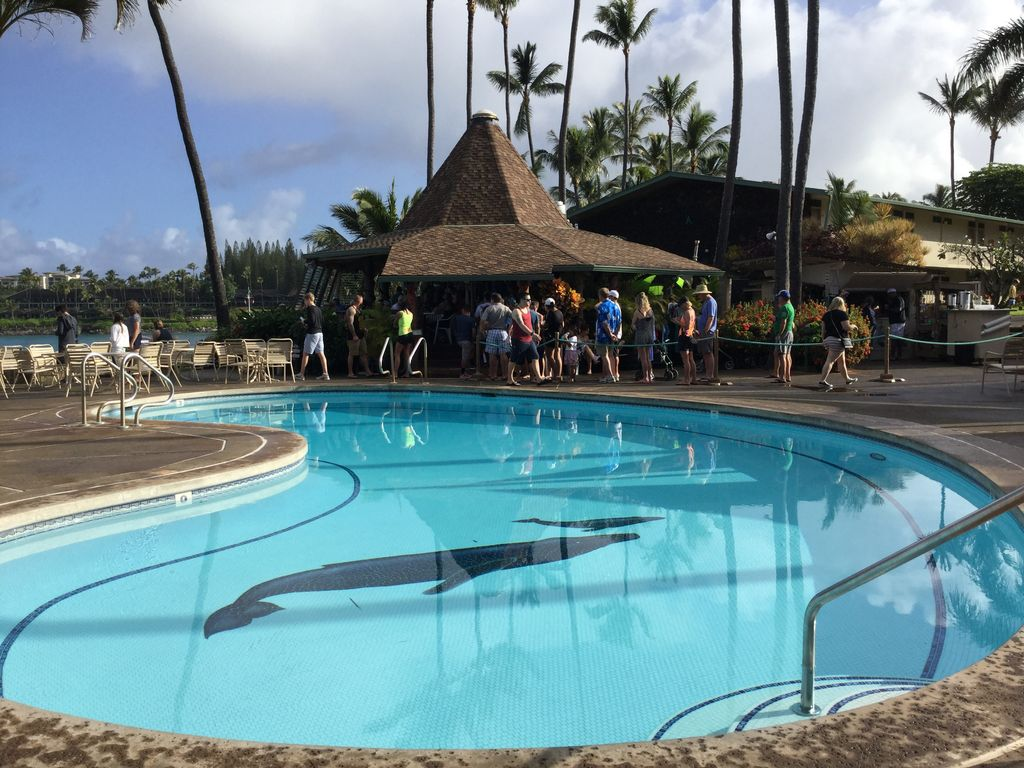 The lower pool and Gazebo Restaurant, voted #1 for breakfast  on Maui!