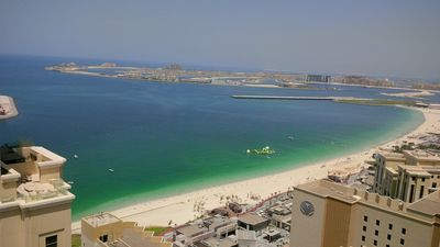 image for gigantic view from the 37. floor over Jumeirah Beach and Palm Jumeirah