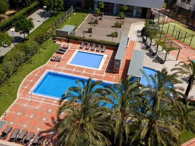 Forum Diagonal Mar apartment rental - Commual Area with swimming pool, tenis and gym
