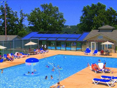 Pointe Royale's Aqua Park with multiple outdoor pools, Hot tub and Indoor pool