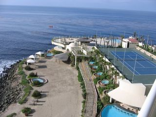 Rosarito Beach condo photo - terrace view from 6th floor unit with jacuzzi row