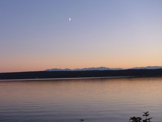 Oak Harbor house photo - Moonrise over the Olympics from the deck.