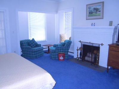 East Tawas cottage rental - Tawas Bay Bedroom (1). This bedroom contains king size bed with cable tv.