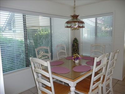 Bright and sunny dining area