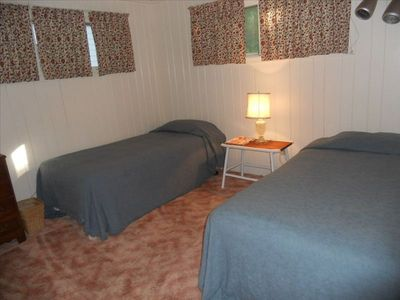 Bedroom in main cottage with twin beds.