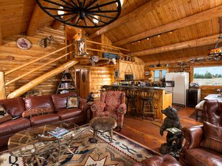 Jackson Hole lodge photo - Great room where the kitchen flows open and airy.