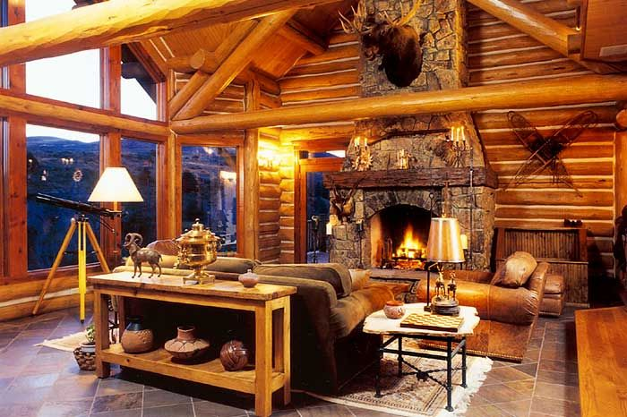 Luxury log home 39 great place for summer or vrbo for Luxury log home