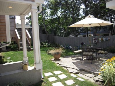 Dennisport house rental - Backyard Patio