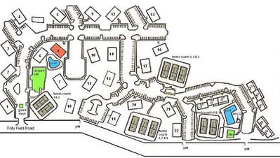 Fiddler's Cove map showing the great location of Building 8.