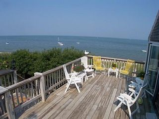 Brewster house photo - Enjoy evening meals & sunsets on your private deck