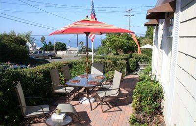 Front patio - beautiful ocean view, perfect for dining al fresco!