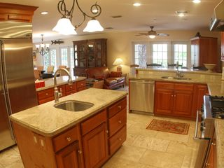 Marathon villa photo - A view of the kitchen--- equipped with marble counters and all premium appliance