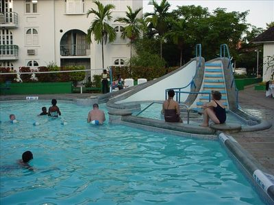 Resort Pool With Waterslide