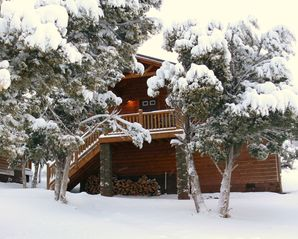 Show Low cabin photo - The Tree House in it's snow blanket