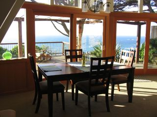 Mendocino house photo - Panoramic views from dining room table
