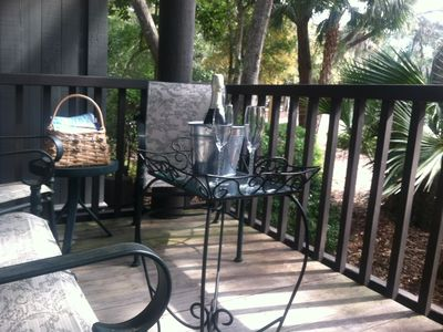 Back deck, perfect for entertaining, has lovely lagoon view and morning sun!!